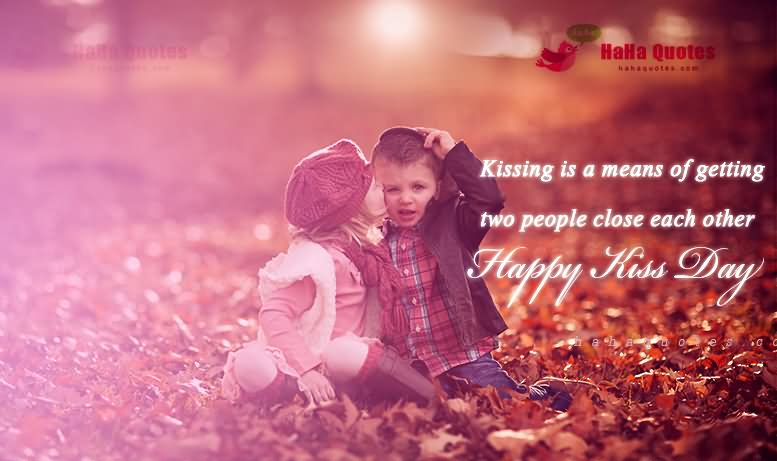 Special Happy Kiss Day Quotes Wallpaper