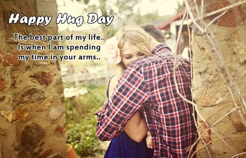 The Best Part Of My Life Happy Hug Day Quotes Image