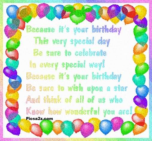 This Very Special Day Your Birthday Twin Wishes Image