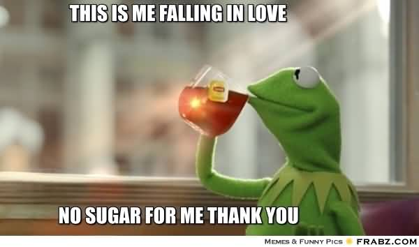 This is me falling in love no sugar for me thank you I Love You Memes Photos