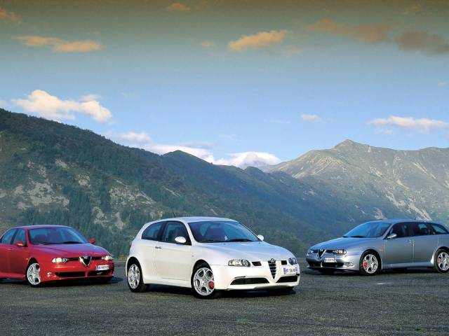 Three beautiful Alfa Romeo 147 GTA Car