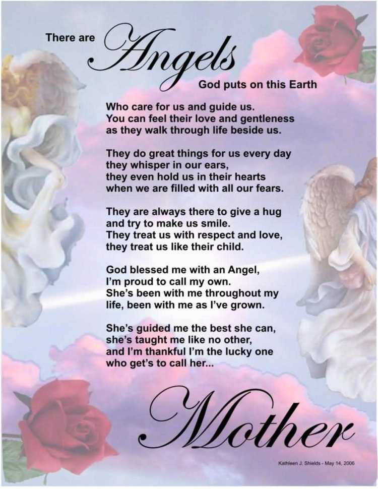 To Angel Mom Happy Mothers Day Quotes Image