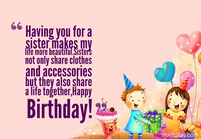 To My Beautiful Sister Happy Birthday Greetings Image
