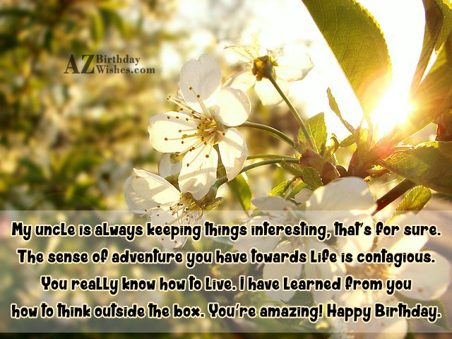 Uncle You're Amazing Happy Birthday Wishes Quotes