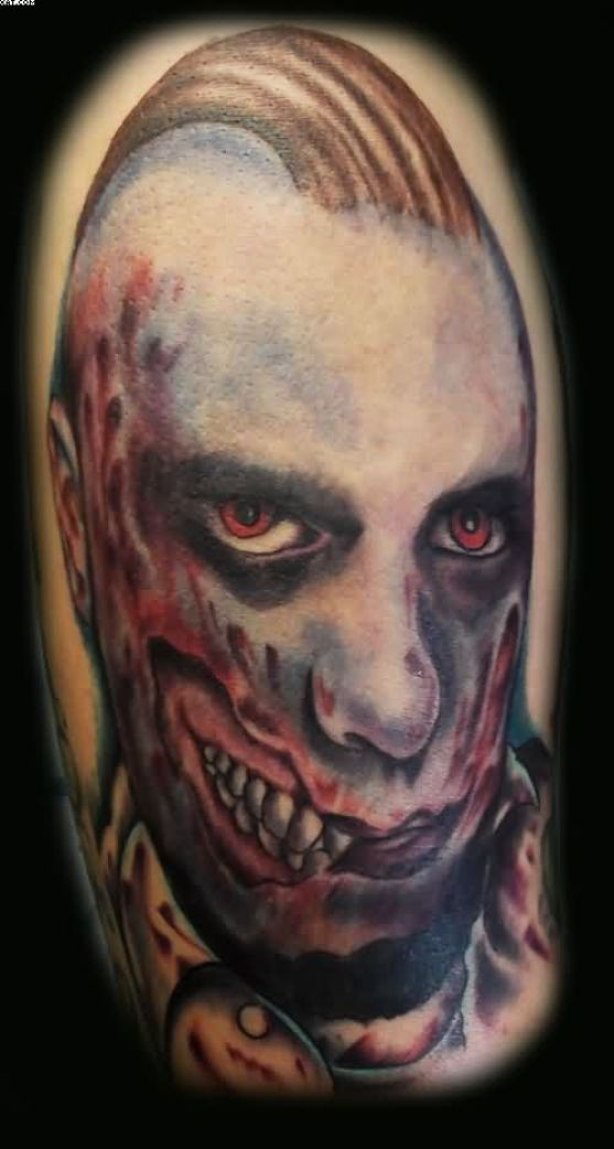 Very Weird Zombie Hatchetman Tattoo