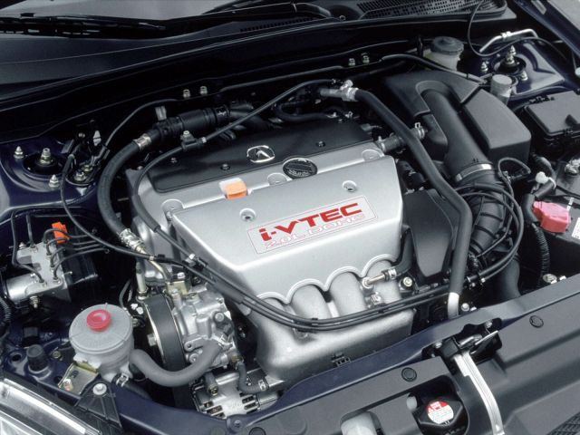 Very fast engine view of Acura RSX Car
