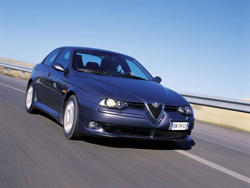 Very fast on the road of Alfa Romeo 156 GTA Car
