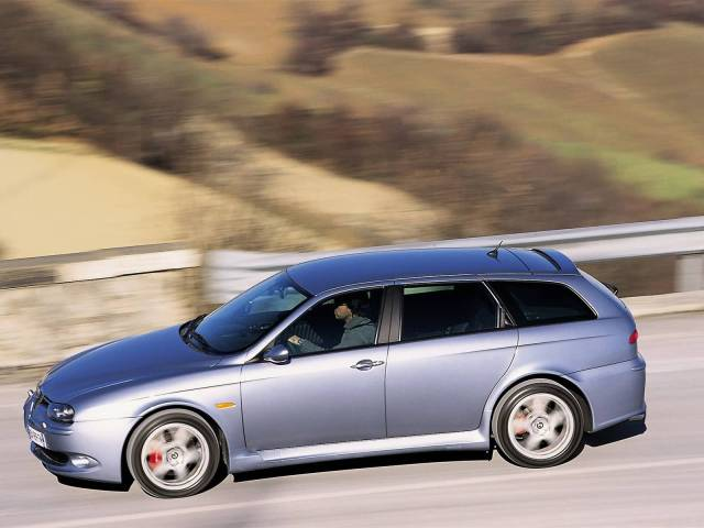 Very fast on the road silver Alfa Romeo 156 GTA Car
