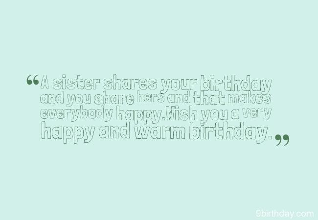 Warm Wishes Happy Birthday Sister Image