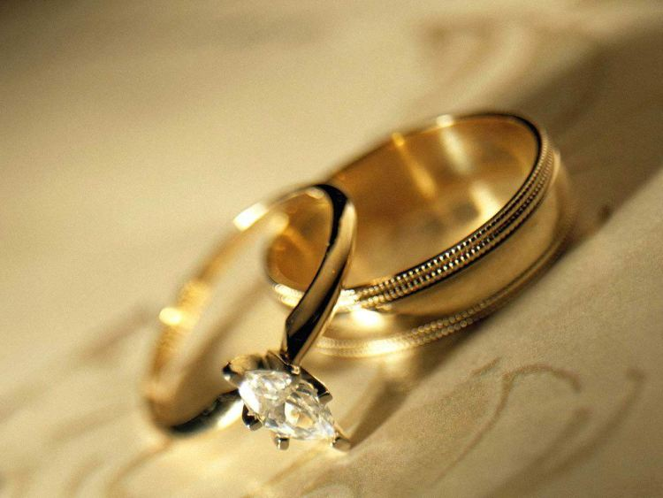 Wedding Rings Wishes Wallpaper