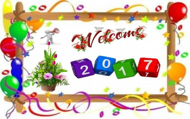 Welcome Happy New Year 2017 Wishes Message Image