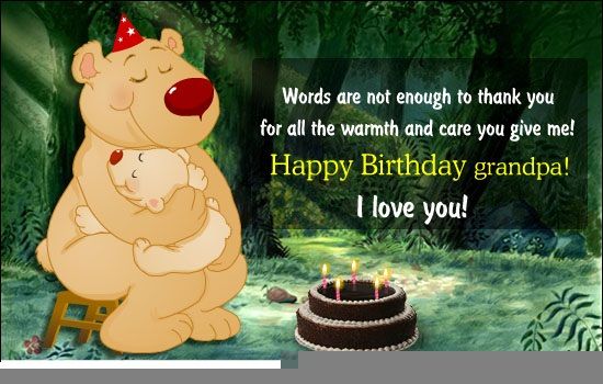 Wish You A Very Happy Birthday Grandpa Wishes Cute Image