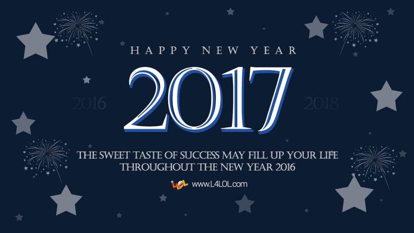 Wish You A Very Happy New Year 2017 The Sweet Taste Of Success Wishes Image