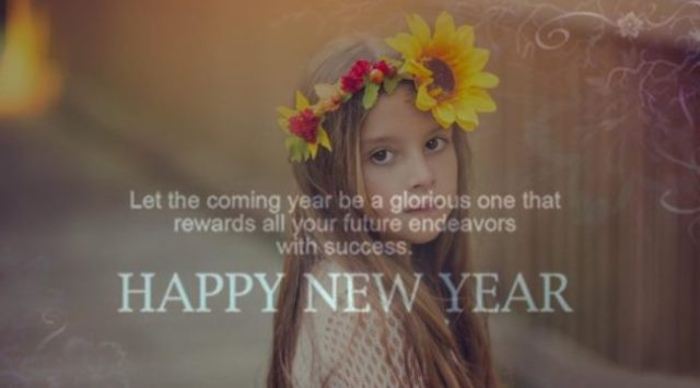 Wish You A Very Happy New Year Greetings Wallpaper