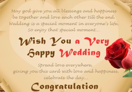 Wish You A Very Happy Wedding Congratulation