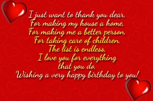 Wishing A Very Happy Birthday To You Dear Wife