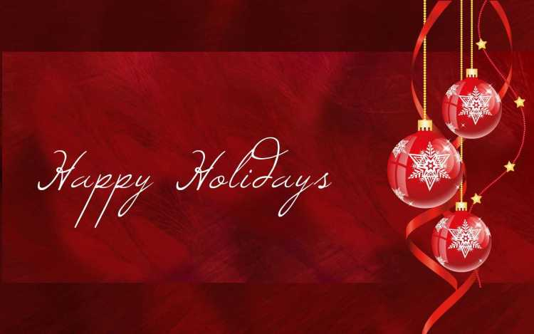 Wishing You A Very Happy Holiday Wallpaper