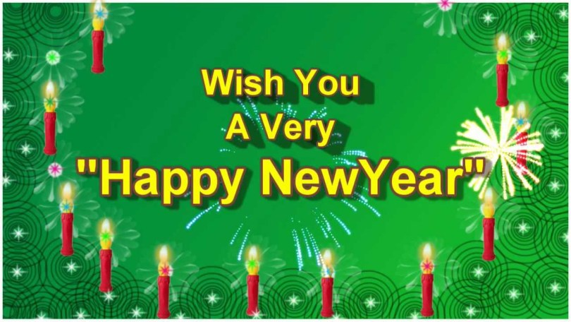 Wishing You A Very Happy New Year Wallpaper