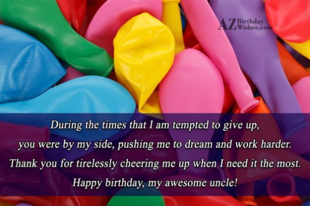 Wonderful Birthday My Awesome Uncle Greetings Image