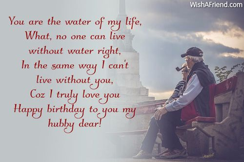Wonderful Birthday To You My Dear Hubby Wishes Message Image