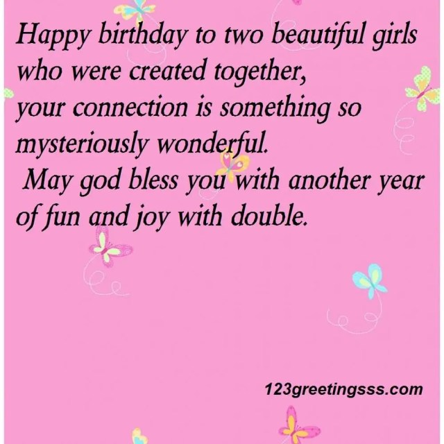 Wonderful Birthday Wishes For Twins Image