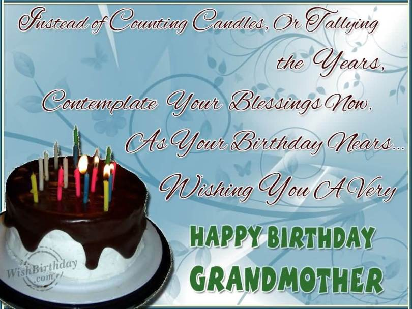 Wonderful Happy Birthday Grandmother Contemplate Your Blessing Now