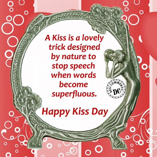 Wonderful Happy Kiss Day Quotes Greeting Image