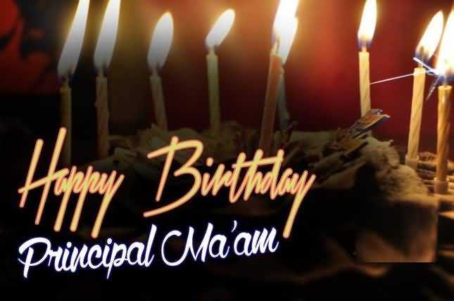 Wonderful Wish Happy Birthday Principal Ma'am Greeting Image