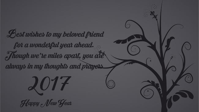 Wonderful Year Happy New Year 2017 Wishes Image