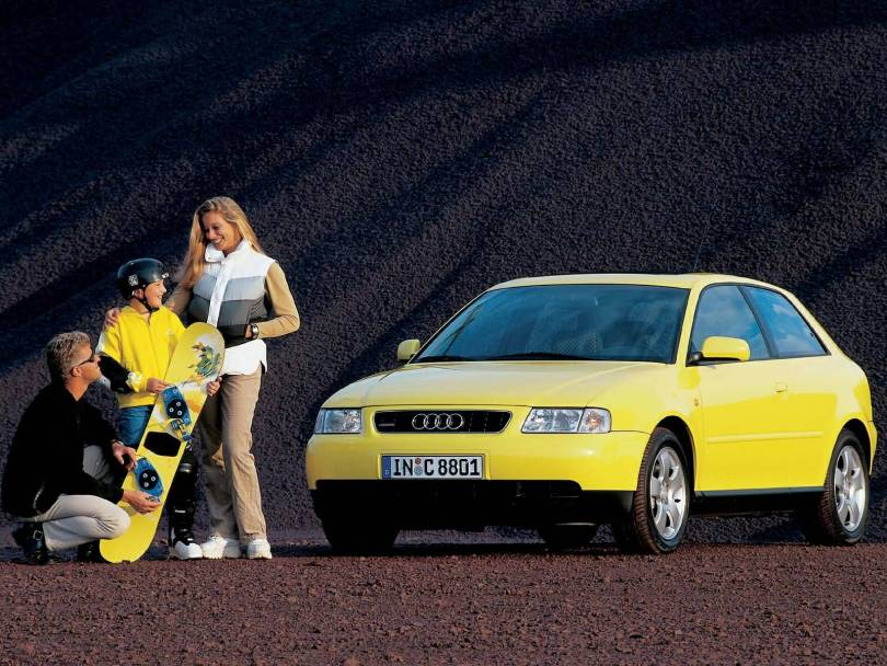 Wonderful yellow Audi A3 car