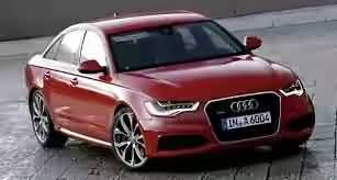 Wonderful red Audi car
