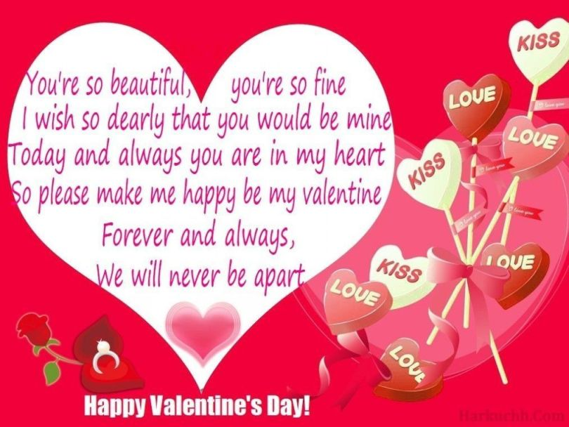 You're So Beautiful Happy Valentine Day Greetings Quotes