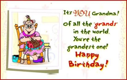 You're The Grandest One Happy Birthday Great Wishes Image