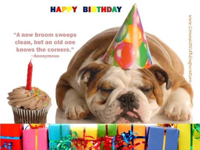 happy birthday a new broom sweeps clean, but an old one knows the corners. anonymous