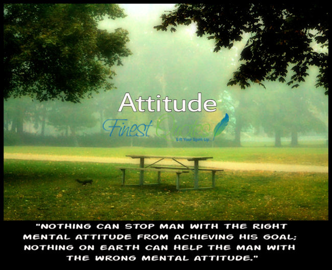 nothing can stop man with the right mental attitude from achieving his goal; nothing on earth and help the man with the wrong mental attitude.