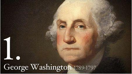 1st President Of USA Happy Birthday Wishes Image