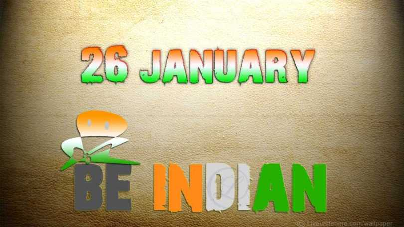 26 January Happy Republic Day Greetings Fantastic Wallpaper