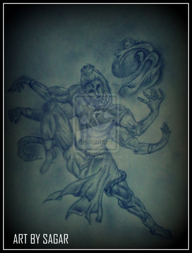 Adorable Hindu God Shiva Tattoo Design For Boys