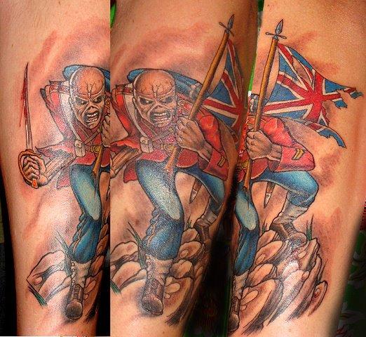 Amazing Fantasy Iron Maiden Tattoo On Arm For Boys