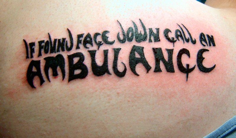 Amazing Funny Ambulance Tattoo Design For Boys