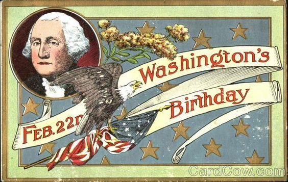 America 1st President George Washington Birthday Wishes Image