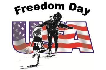 American Flag National Freedom Day Wishes Image
