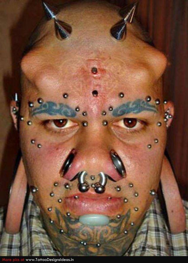 Attractive Face Tattoo Design For Boys