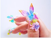 awesome 3d butterflies nail art