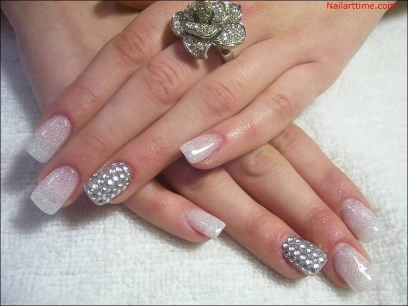 Awesome Diamond Color Accent Nail Art