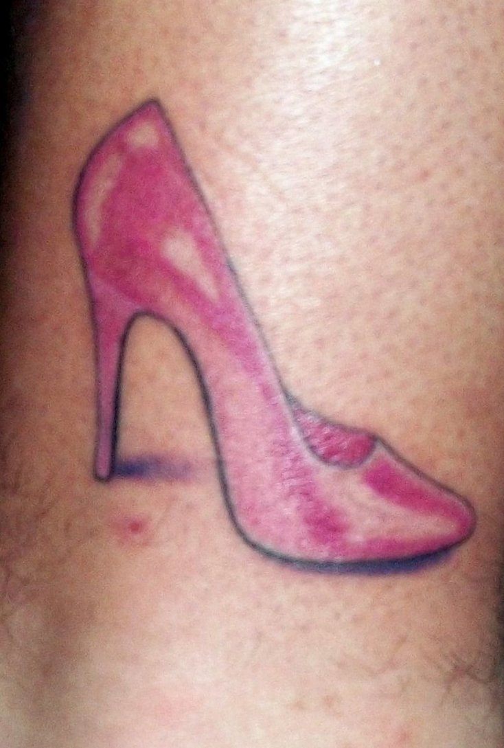 Awesome Heel Tattoo Design For Girls