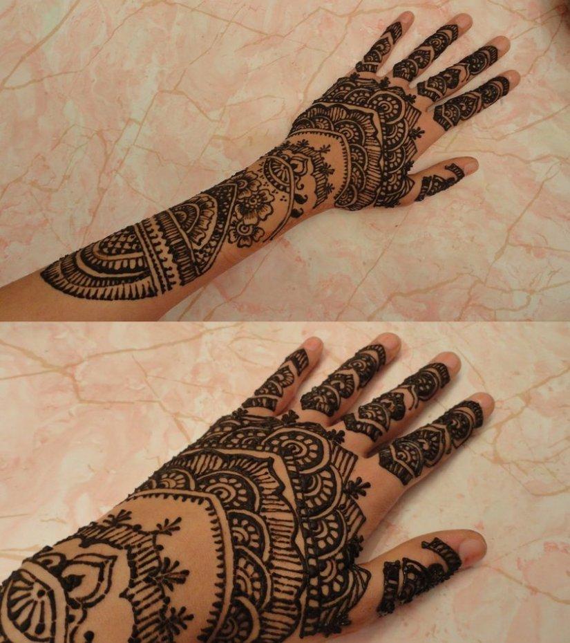 Awesome Taj Mahal Henna Tattoo Designs For Girls