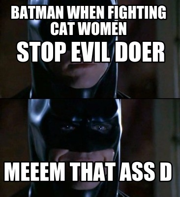 Batman Memes Batman When Fighting Cat Women Stop Evil Doer Images
