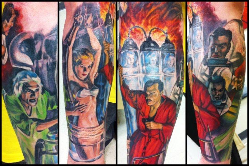 Beautiful l Comic Horror Tattoo Design For Boys
