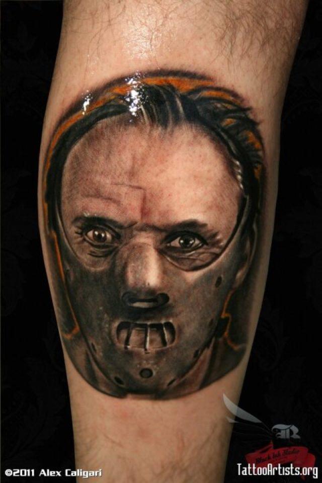 Best Ever Hannibal Horror Tattoo Design For Boys